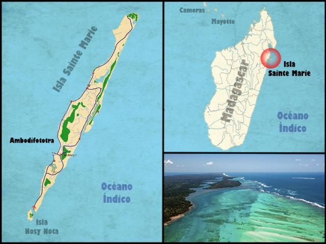 Mapa Sainte Marie