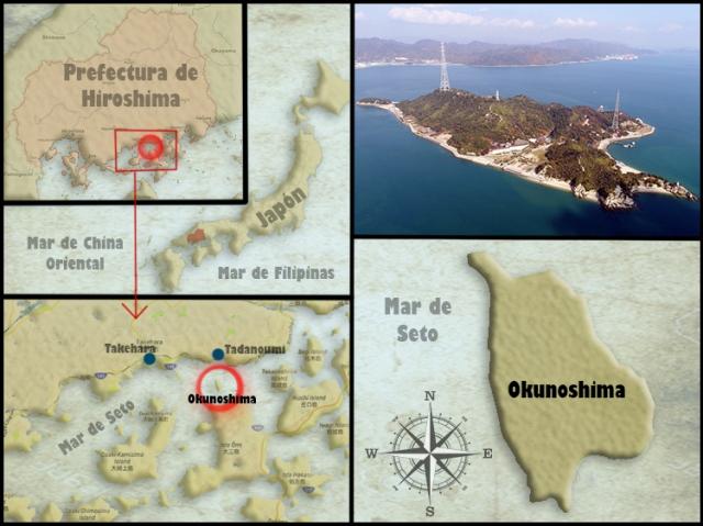 Mapa Okunoshima