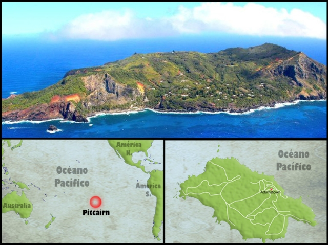 Mapa Pitcairn